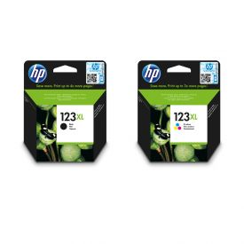 HP 123XL Black/Tri-colour Original Ink Cartridge Bundle
