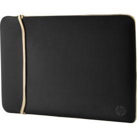"""HP 39.62 Cm (15.6"""") Neoprene Reversible Sleeve Black/Gold"""