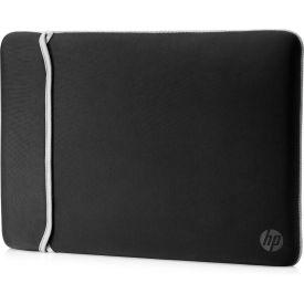 "HP 35.56 Cm (14"") Neoprene Reversible Sleeve Black/Silver"