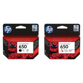 HP 650 Black/Tri-colour Original Ink Advantage Cartridge Bundle