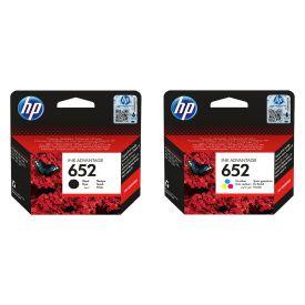 HP 652 Black/Tri-colour Original Ink Advantage Bundle