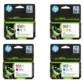 HP 950XL/951XL Black/Cyan/Magenta/Yellow Original Ink Cartridge Bundle