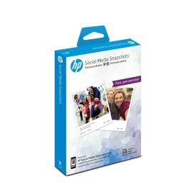 HP Social Media Snapshots Removable Sticky Photo Paper- 25 sheet 10 x 13 cm